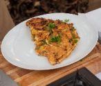 Sedliacka omeleta s gombaseckou klobásou