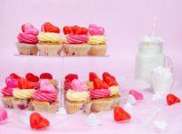 Malinové mini cupcakes