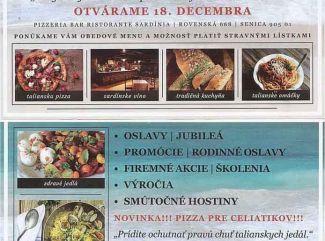 Pizzeria bar Ristorante Sardínia Senica