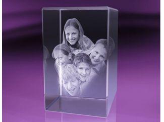 Originálny darček- nesmrteľná fotografia v kryštáli!