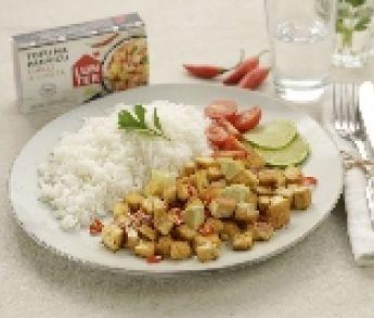 LUNTER Tofu na panvicu Chilli a limeta s ryžou