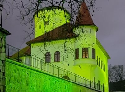 Budatínsky hrad rozžiari zelená