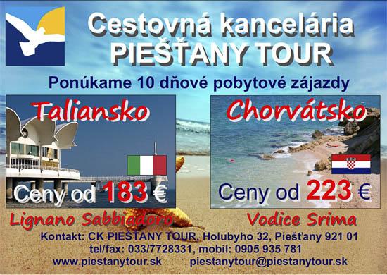 CK Piešťany Tour